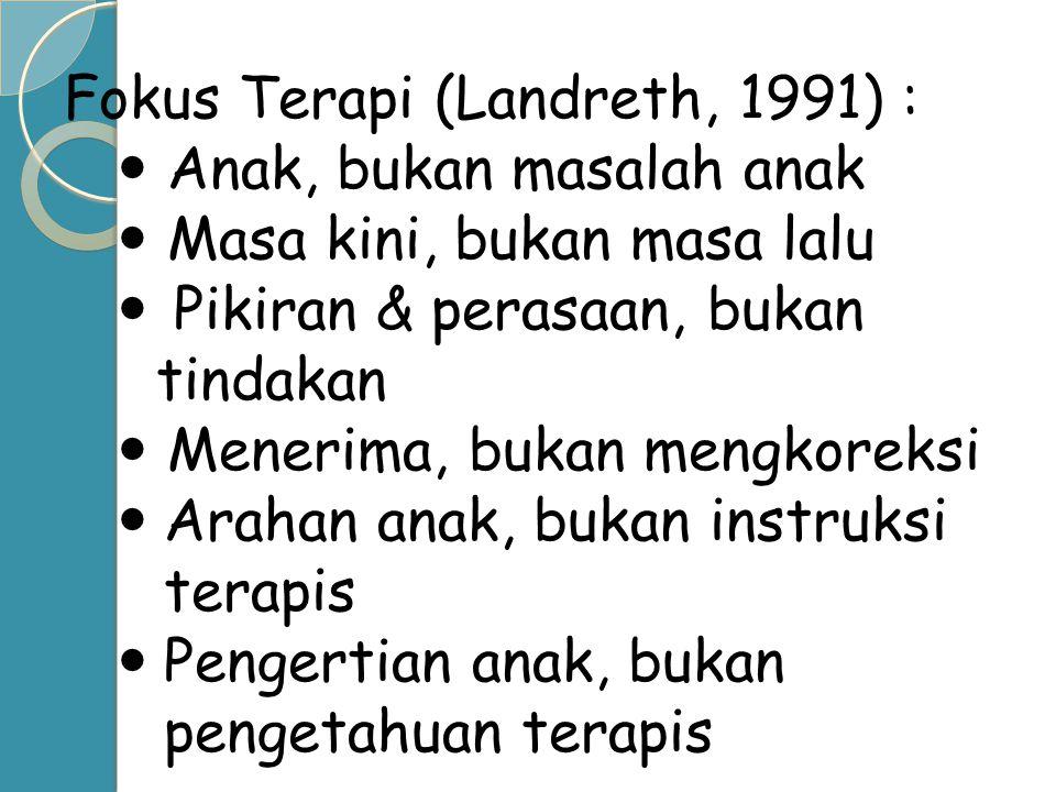Fokus Terapi (Landreth, 1991) :