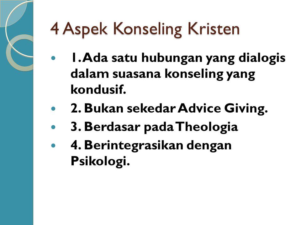 4 Aspek Konseling Kristen