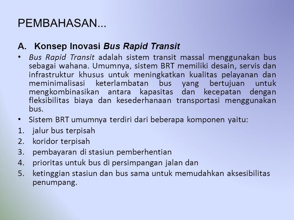 PEMBAHASAN... Konsep Inovasi Bus Rapid Transit