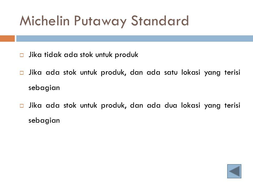 Michelin Putaway Standard