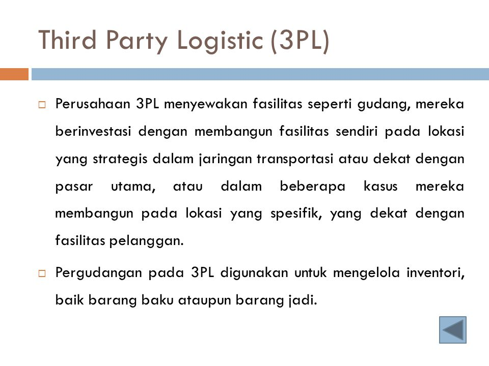 Third Party Logistic (3PL)
