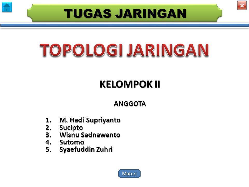 TOPOLOGI JARINGAN TUGAS JARINGAN KELOMPOK II ANGGOTA