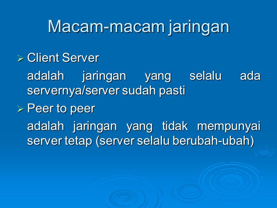 Macam-macam jaringan Client Server
