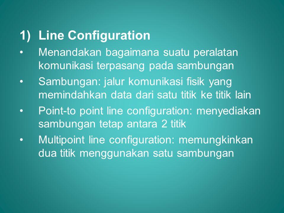 Line Configuration Menandakan bagaimana suatu peralatan komunikasi terpasang pada sambungan.