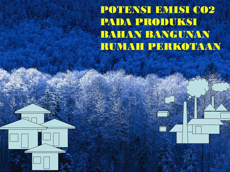 POTENSI EMISI CO2 PADA PRODUKSI BAHAN BANGUNAN RUMAH PERKOTAAN