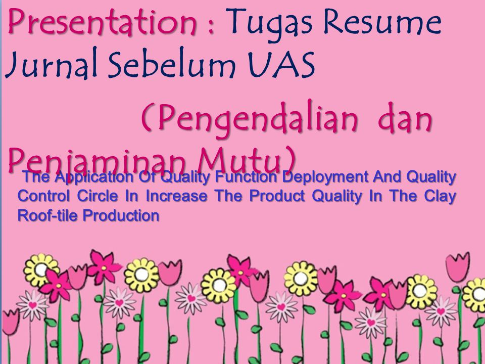 Presentation : Tugas Resume Jurnal Sebelum UAS