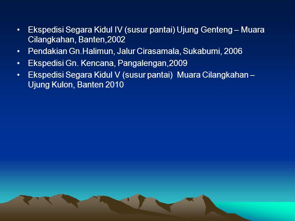Ekspedisi Segara Kidul IV (susur pantai) Ujung Genteng – Muara Cilangkahan, Banten,2002