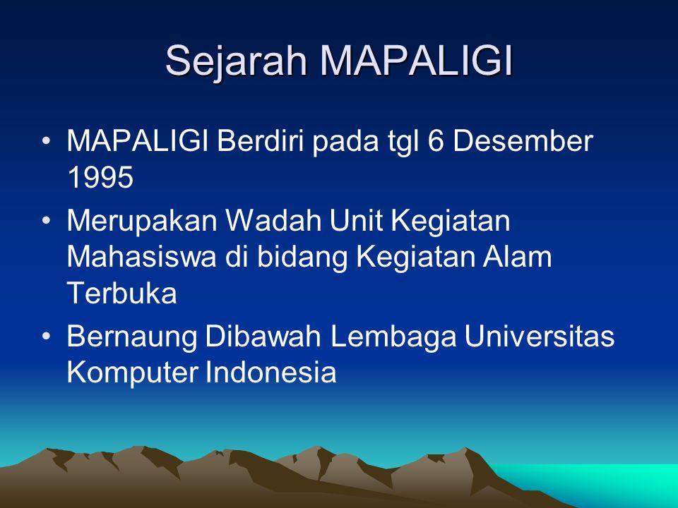 Sejarah MAPALIGI MAPALIGI Berdiri pada tgl 6 Desember 1995