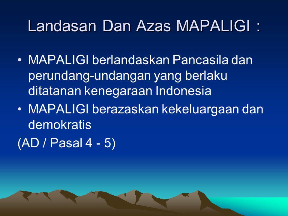 Landasan Dan Azas MAPALIGI :