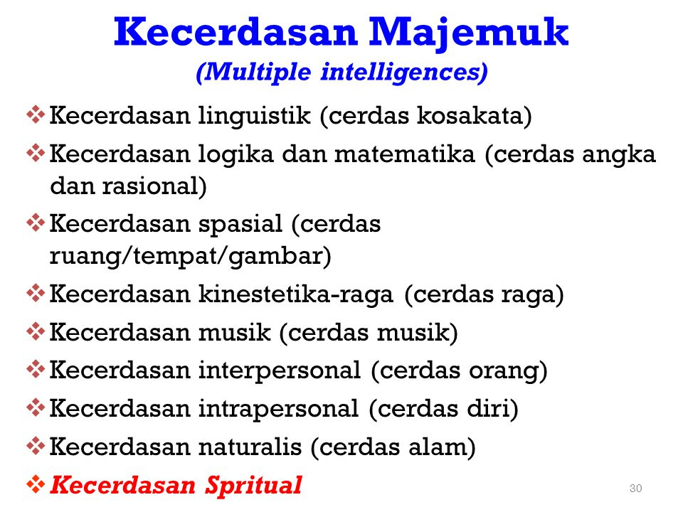 Kecerdasan Majemuk (Multiple intelligences)