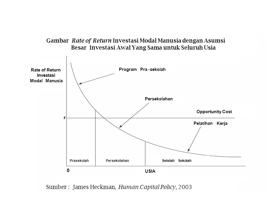 Sumber : James Heckman, Human Capital Policy, 2003