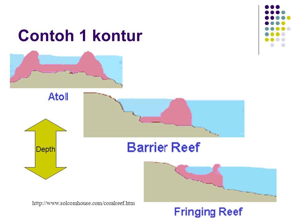 Contoh 1 kontur Depth http://www.solcomhouse.com/coralreef.htm