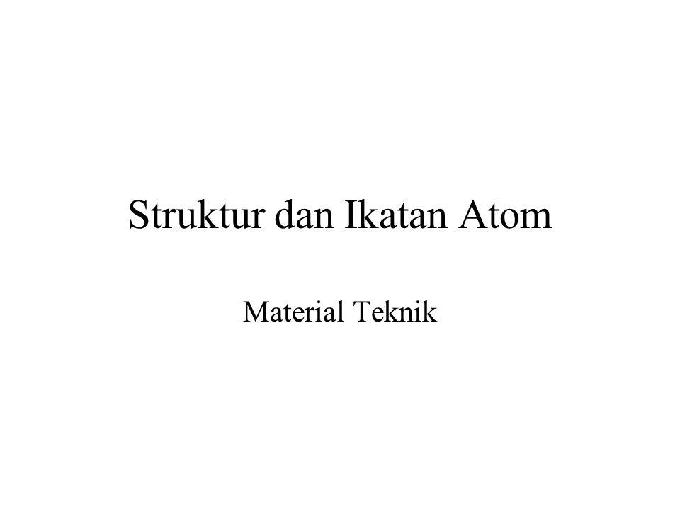 Struktur dan Ikatan Atom