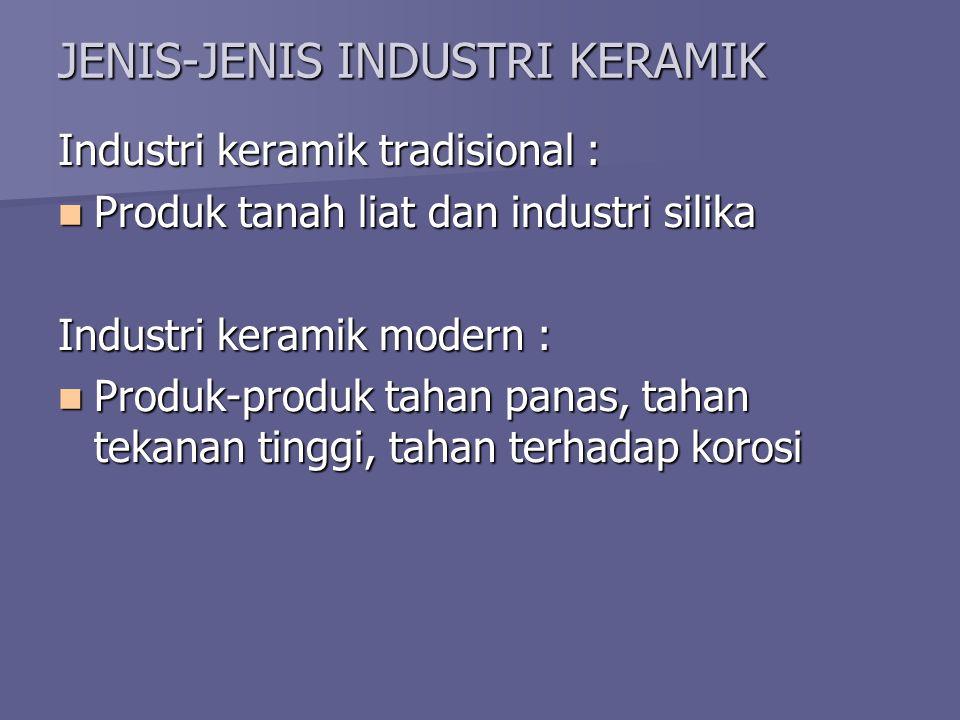 JENIS-JENIS INDUSTRI KERAMIK