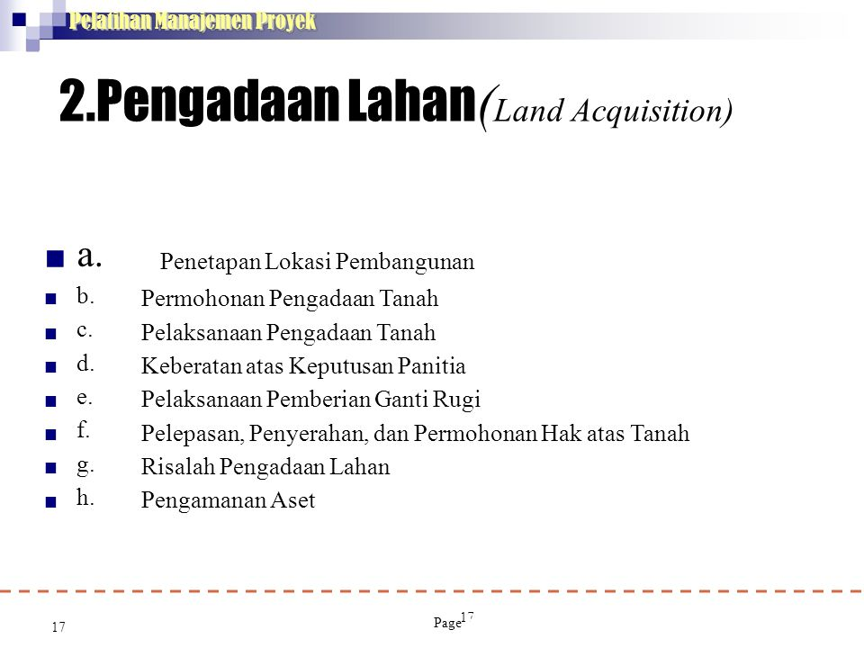 2.Pengadaan Lahan(Land Acquisition)