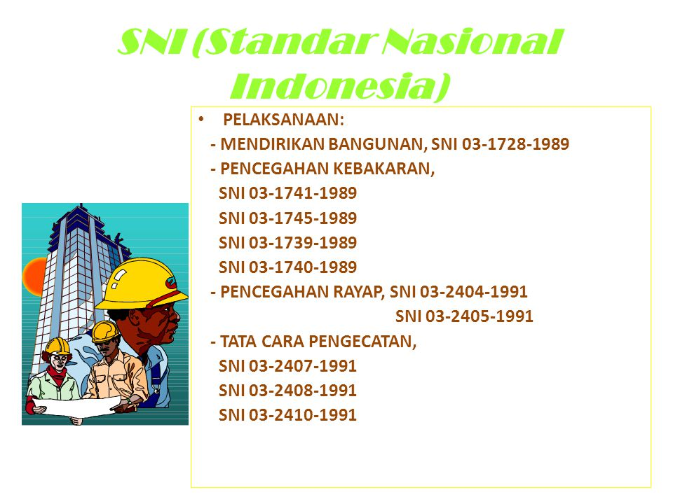 SNI (Standar Nasional Indonesia)
