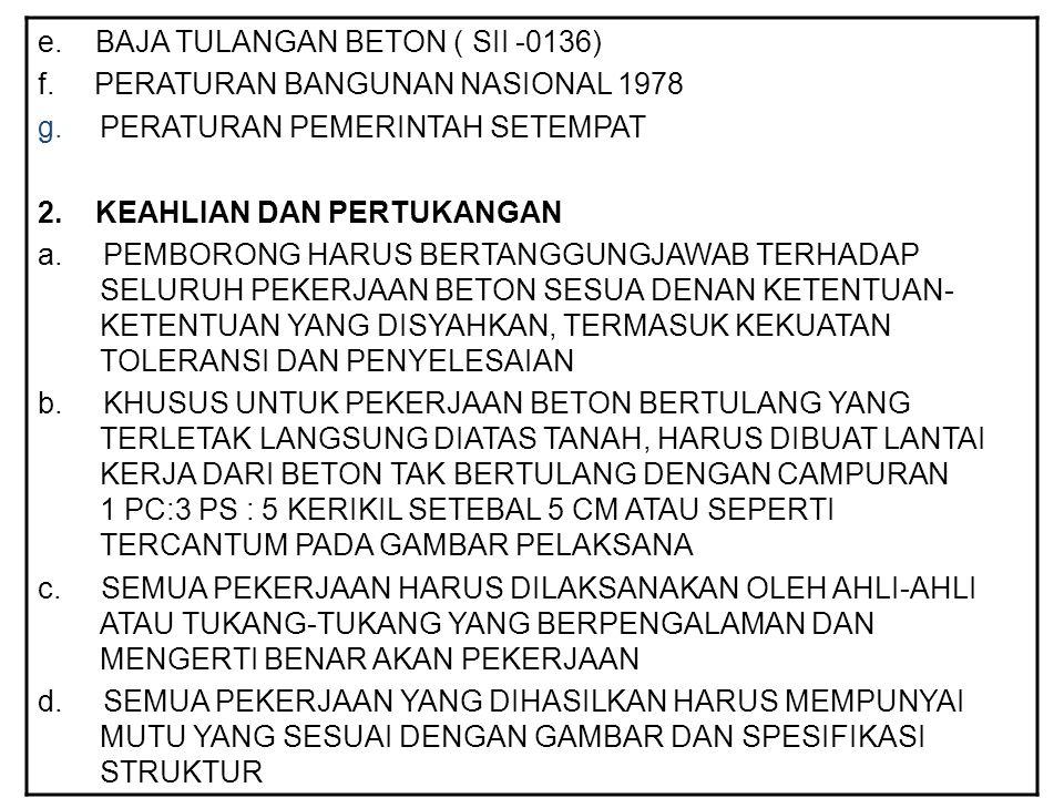 e. BAJA TULANGAN BETON ( SII -0136)