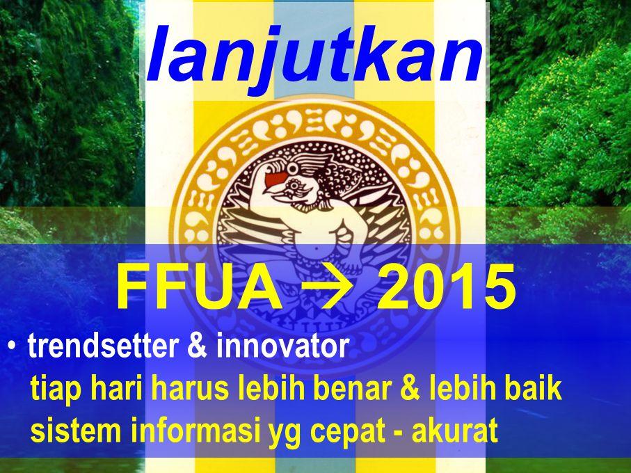 lanjutkan FFUA  2015 trendsetter & innovator