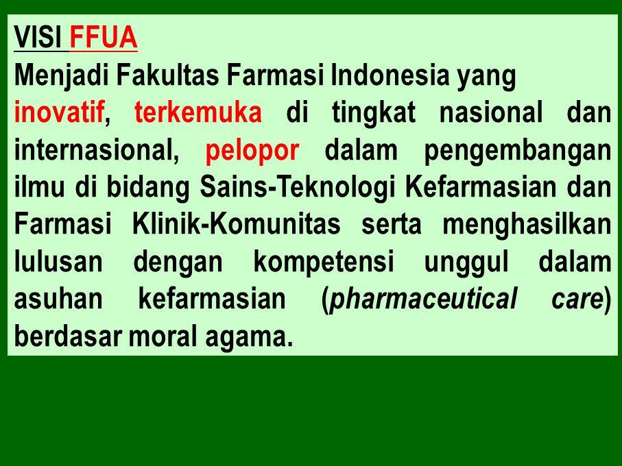 VISI FFUA Menjadi Fakultas Farmasi Indonesia yang.