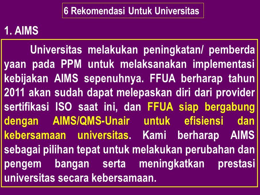 6 Rekomendasi Untuk Universitas