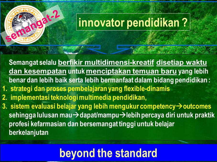 innovator pendidikan beyond the standard