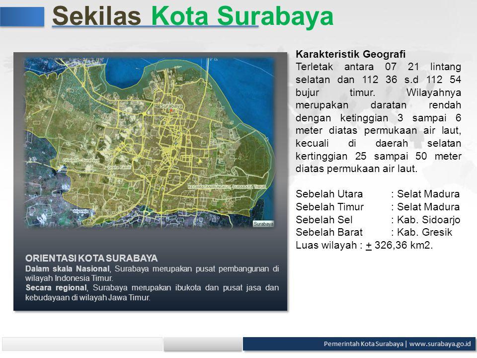 Sekilas Kota Surabaya Karakteristik Geografi