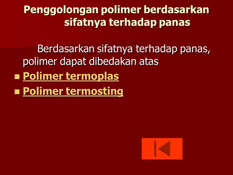 Penggolongan polimer berdasarkan sifatnya terhadap panas