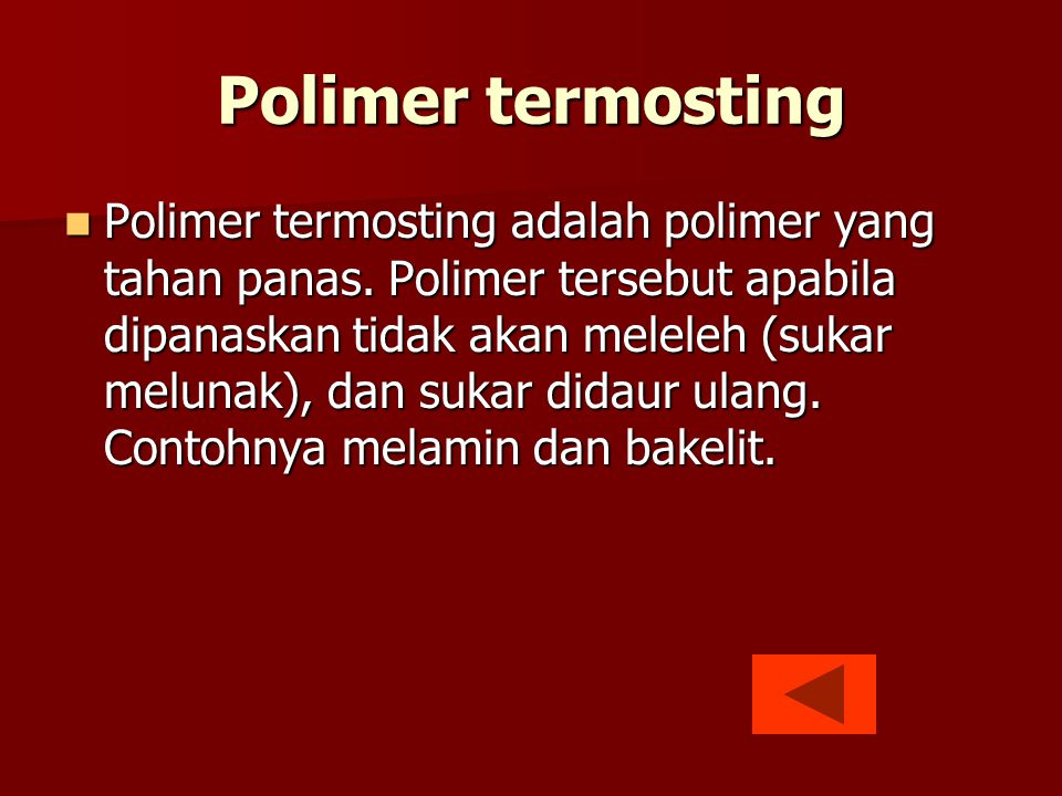 Polimer termosting