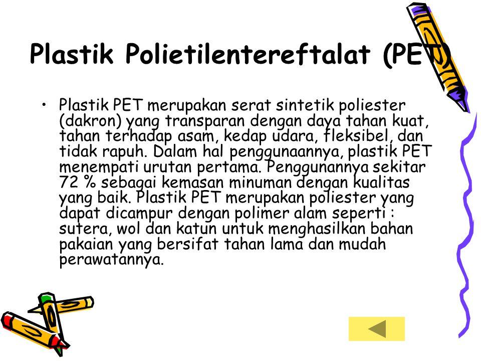Plastik Polietilentereftalat (PET)