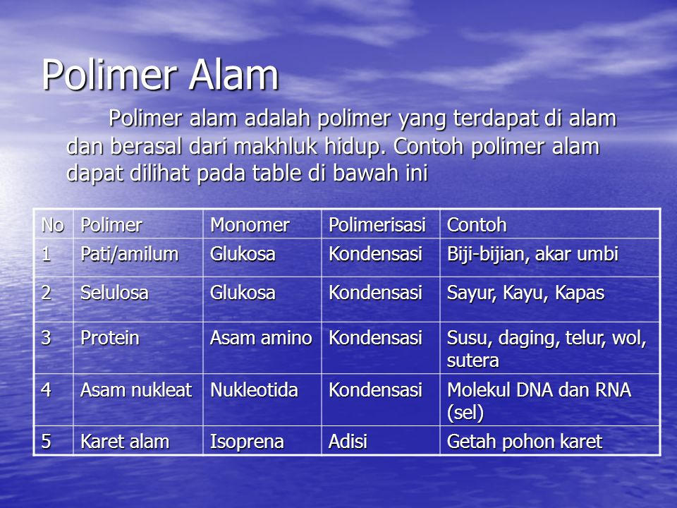 Polimer Alam