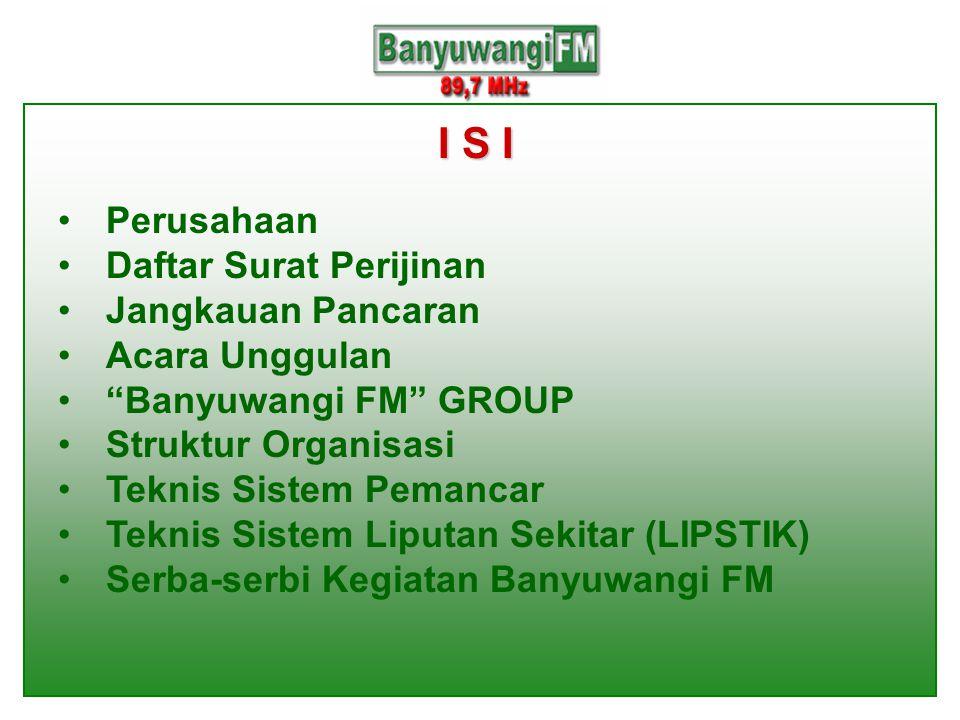 I S I Perusahaan Daftar Surat Perijinan Jangkauan Pancaran