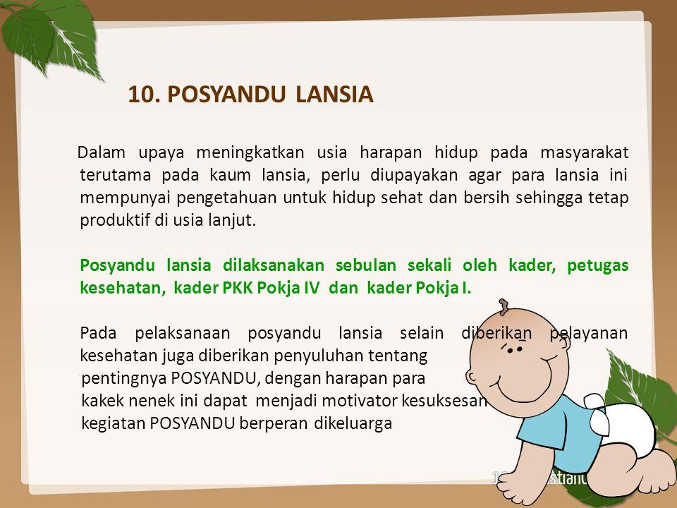 10. POSYANDU LANSIA