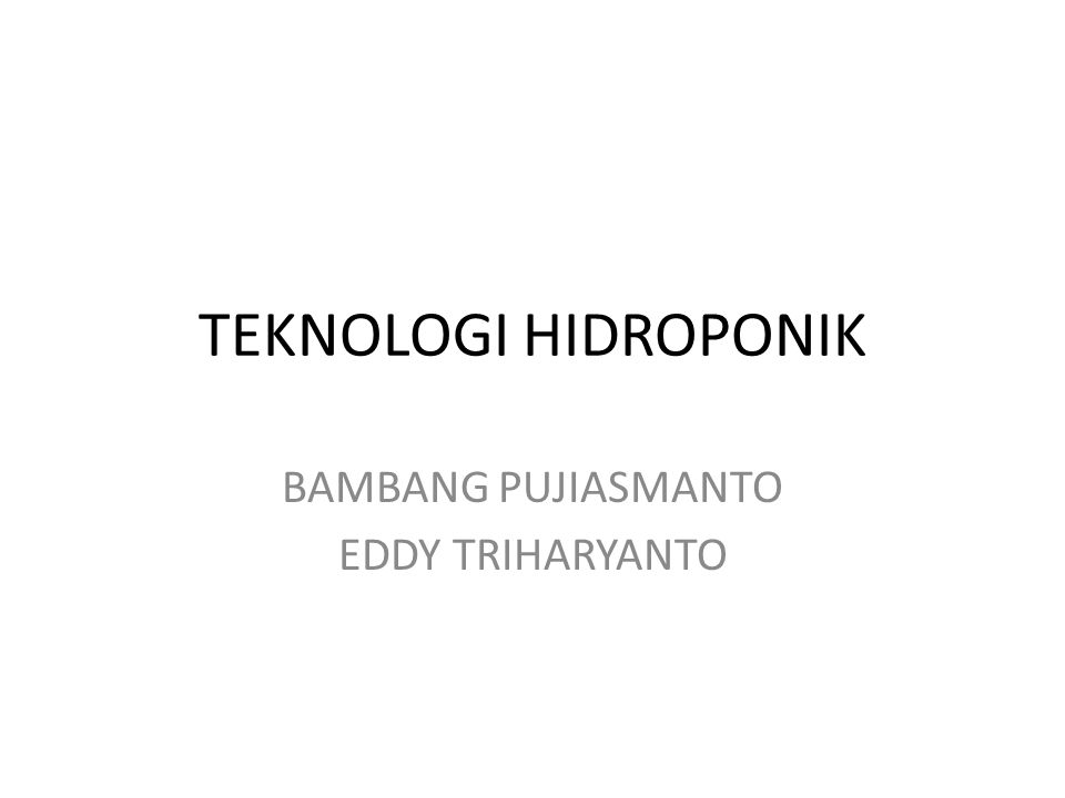BAMBANG PUJIASMANTO EDDY TRIHARYANTO