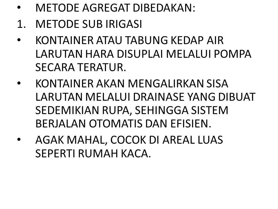 METODE AGREGAT DIBEDAKAN: