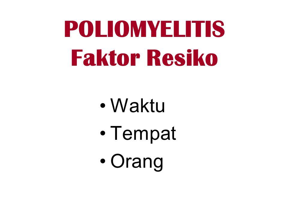 POLIOMYELITIS Faktor Resiko