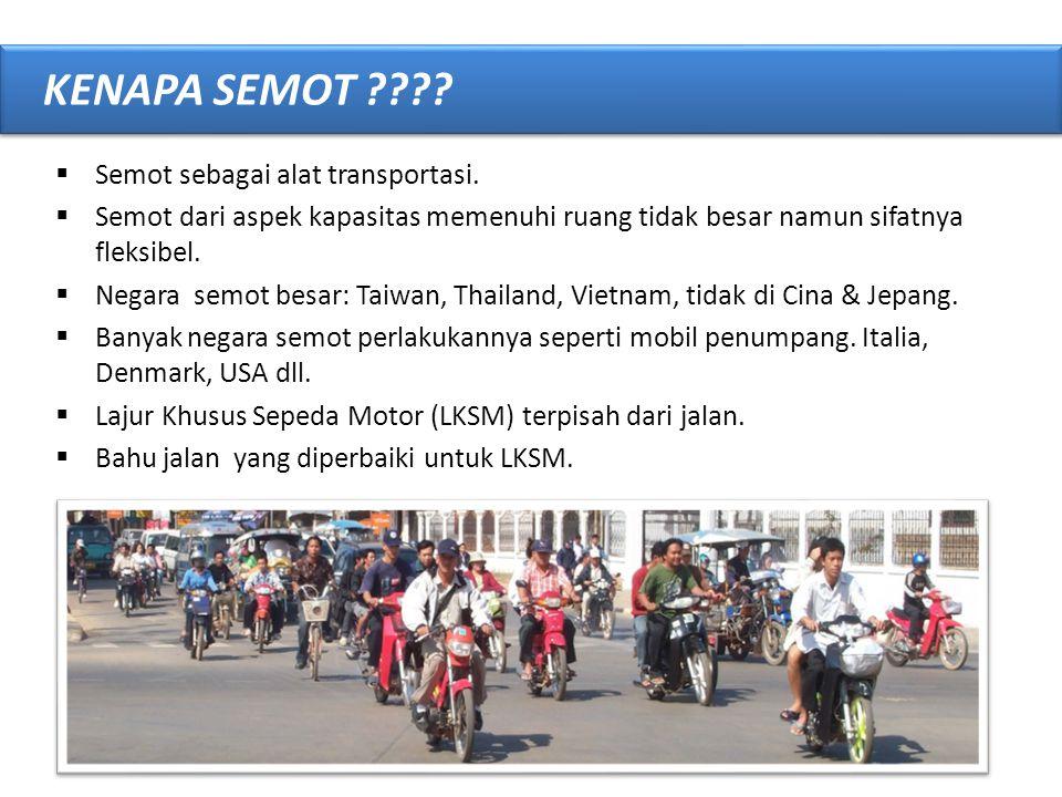 KENAPA SEMOT Semot sebagai alat transportasi.