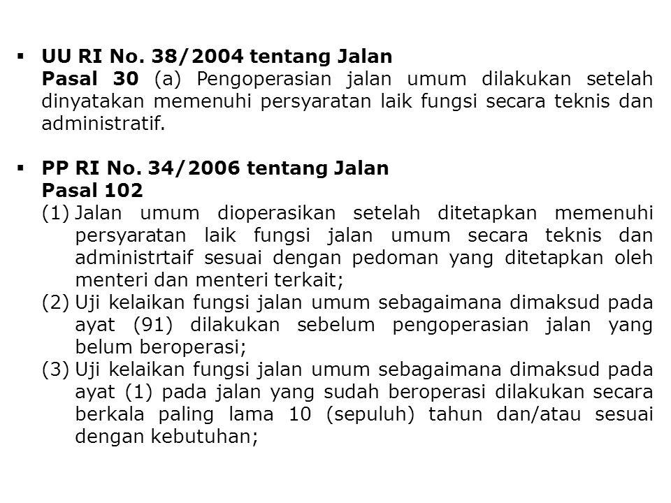 UU RI No. 38/2004 tentang Jalan