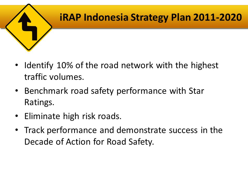 iRAP Indonesia Strategy Plan