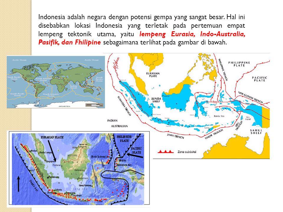 Indonesia adalah negara dengan potensi gempa yang sangat besar