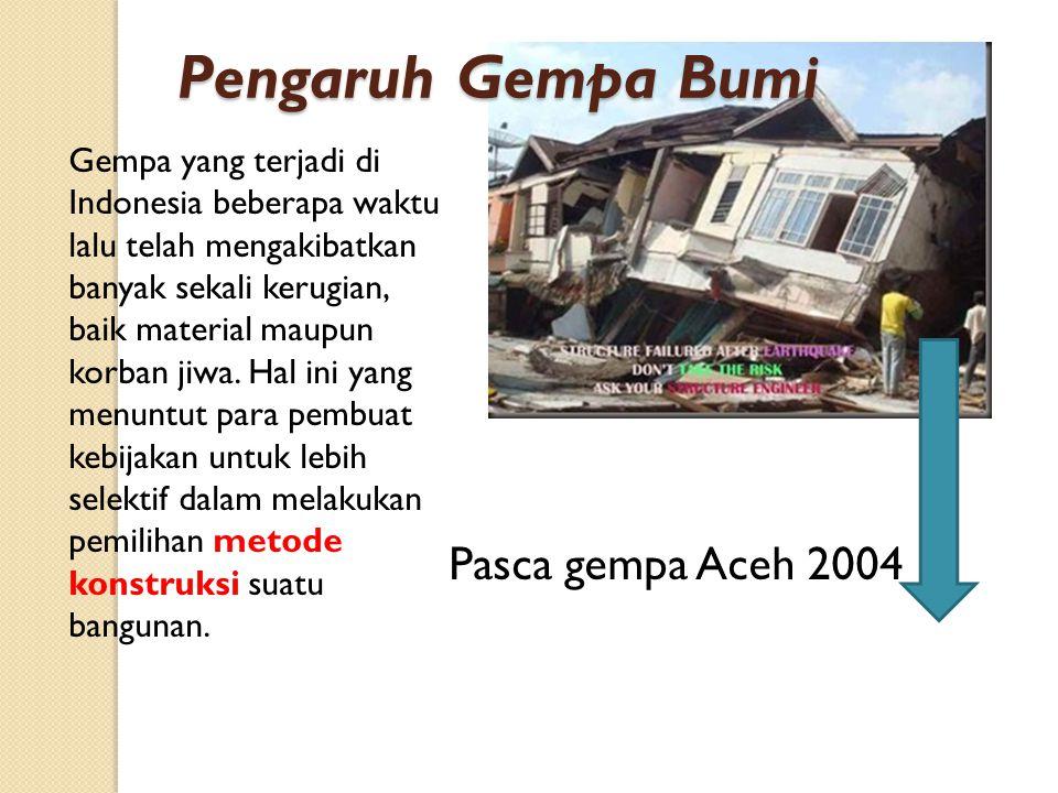 Pengaruh Gempa Bumi Pasca gempa Aceh 2004
