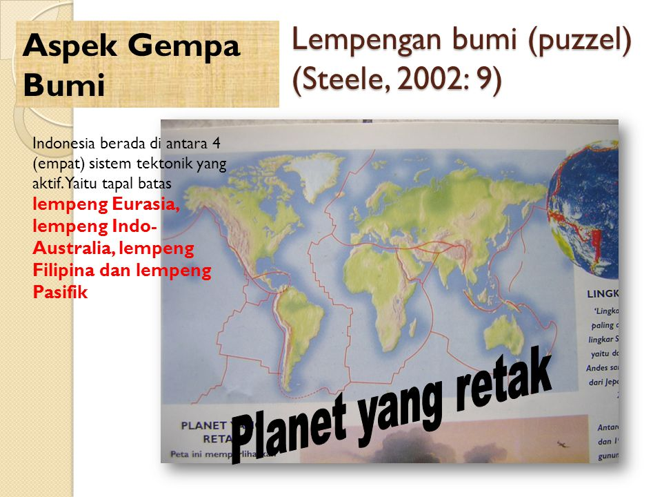 Lempengan bumi (puzzel) (Steele, 2002: 9)