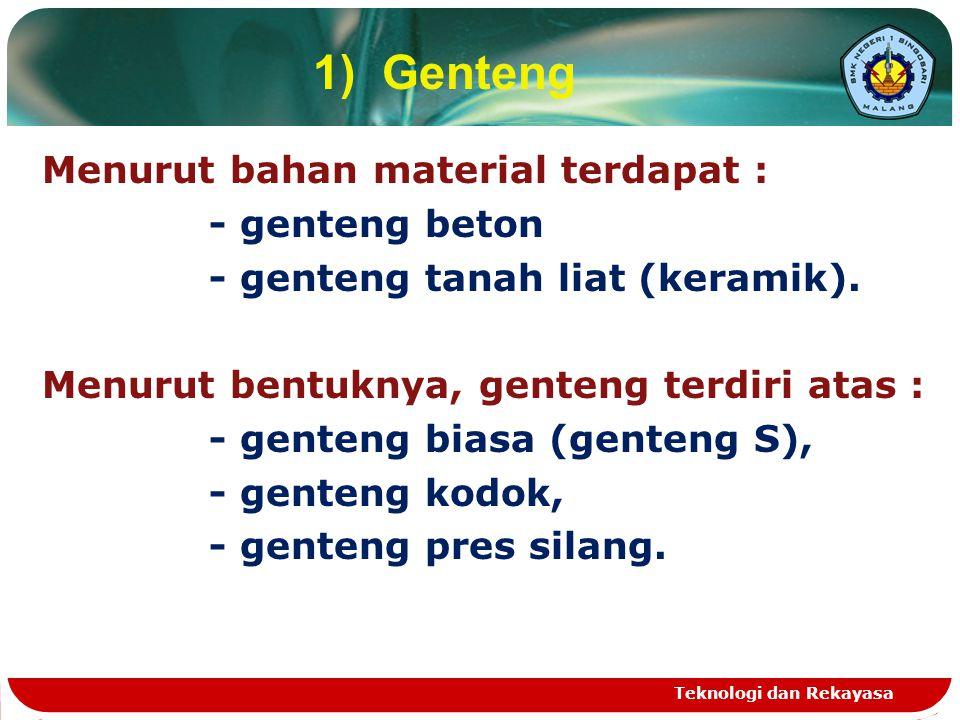 1) Genteng