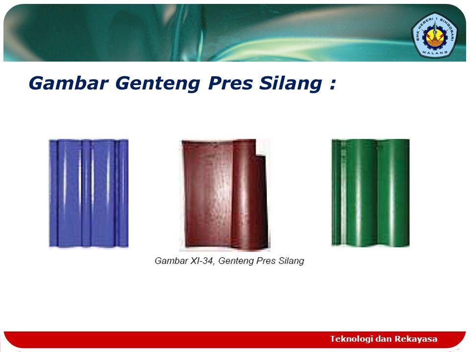 Gambar Genteng Pres Silang :