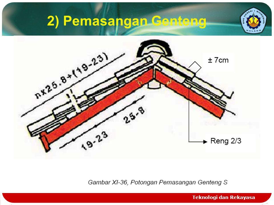 2) Pemasangan Genteng Teknologi dan Rekayasa