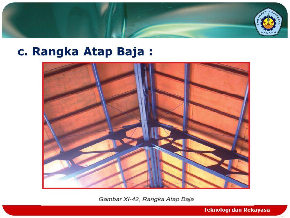 c. Rangka Atap Baja : Teknologi dan Rekayasa