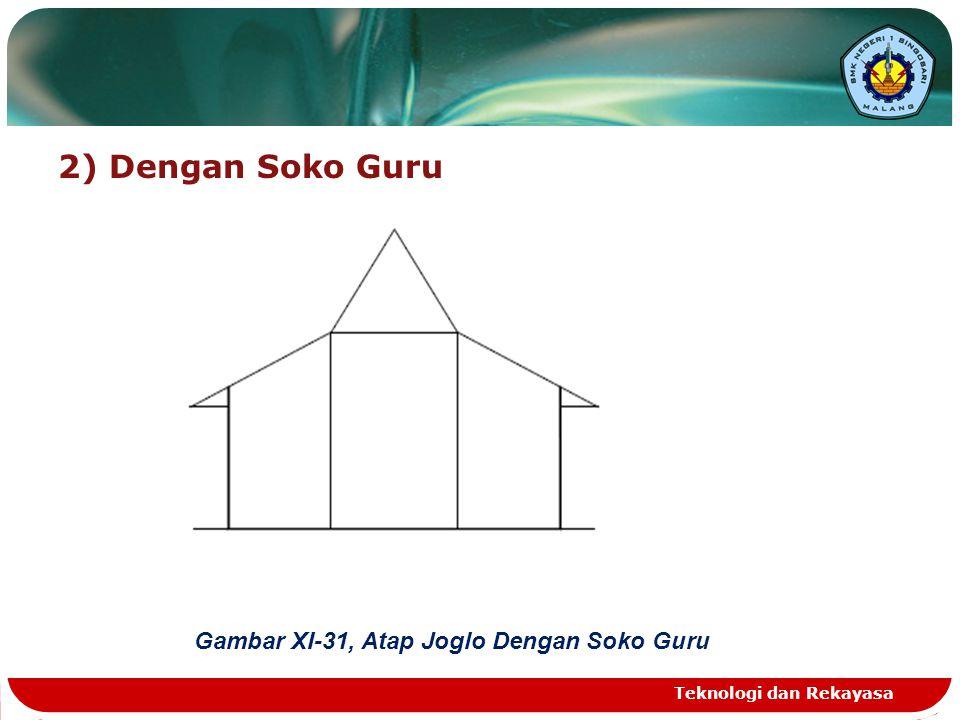 2) Dengan Soko Guru Gambar XI-31, Atap Joglo Dengan Soko Guru