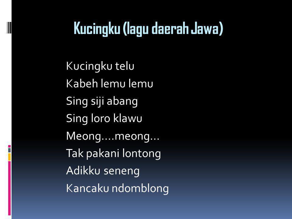 Kucingku (lagu daerah Jawa)