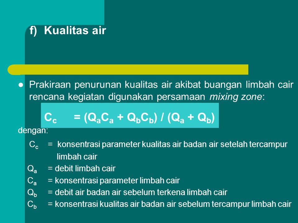 Cc = (QaCa + QbCb) / (Qa + Qb)
