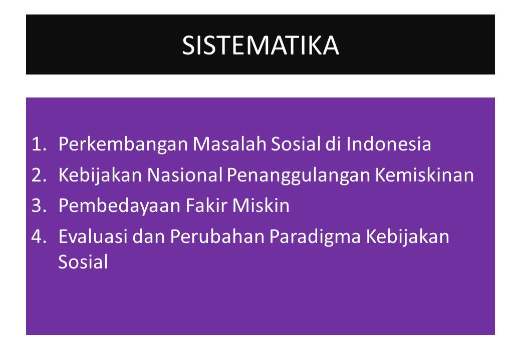 SISTEMATIKA Perkembangan Masalah Sosial di Indonesia