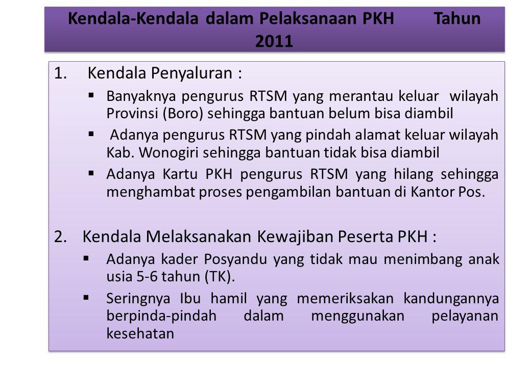 Kendala-Kendala dalam Pelaksanaan PKH Tahun 2011